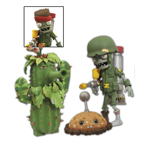 Plants vs. Zombies Foot Soldier Zombie Figure 2-Pack