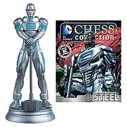 DC Superhero Steel White Pawn Chess Piece with Magazine