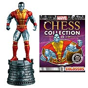 Marvel X-Men Colossus White Rook Chess Piece with Magazine