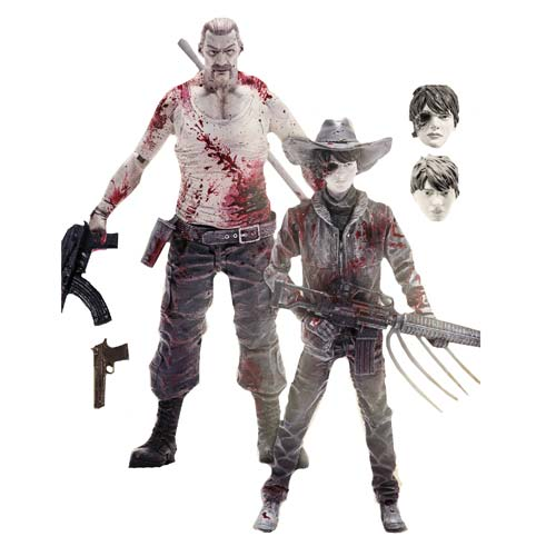 Walking Dead Comic Carl & Abraham Figure 2-Pack - Exclusive