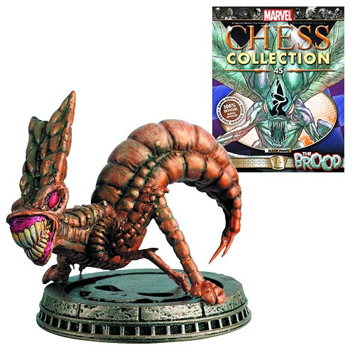 Marvel The Brood Black Pawn Chess Piece with Magazine -  Eaglemoss Publications