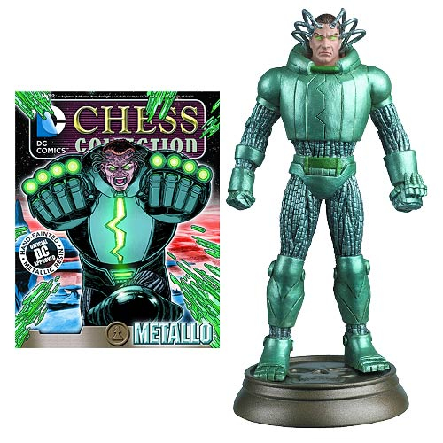 DC Superhero Metallo Black Pawn Chess Piece with Magazine -  Eaglemoss Publications