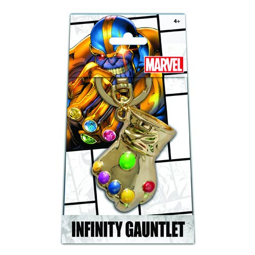 Marvel Infinity Gauntlet Pewter Key Chain Previews Exclusive