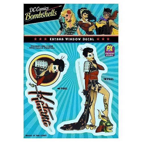 DC Comics Bombshells Katana Vinyl Decal - Previews Excl.
