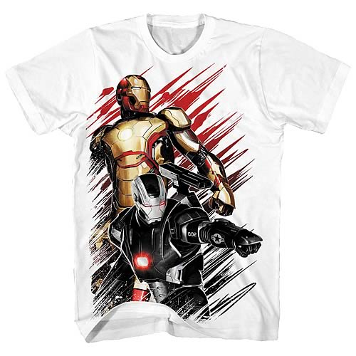 Iron Man 3 Movie .50 Caliber White T-Shirt
