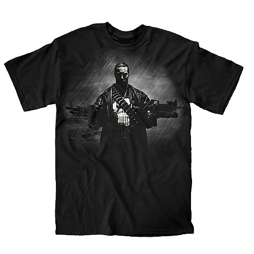 Punisher Two Guns, No Waiting Black T-Shirt