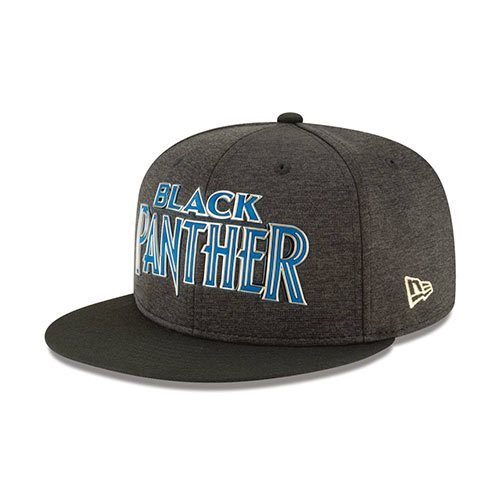 Black Panther Blue Logo Black 950 Flex Fit Cap