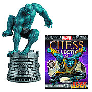 Marvel X-Men Beast White Rook Chess Piece with Magazine