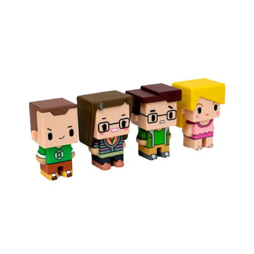 Big Bang Theory Pixel Figure 4-Pack #1, Not Mint