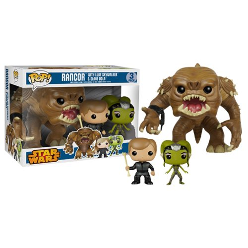 Star Wars Rancor, Luke, and Oola Pop! Vinyl Figure 3-Pack PX