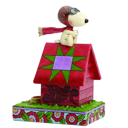 Peanuts Traditions Snoopy Flying Ace Statue