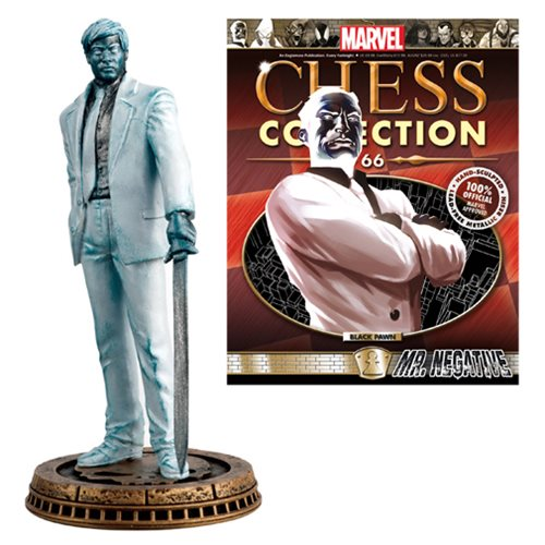 Marvel Mr. Negative Black Pawn Chess Piece with Magazine -  Eaglemoss Publications