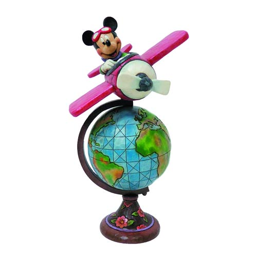 Disney Traditions Globetrotting Aviator Mickey Mouse Statue