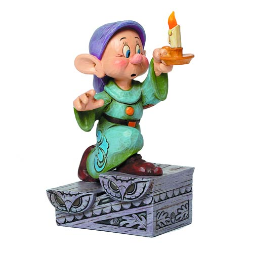 Disney Traditions Snow White Dopey Candle Statue