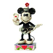 Disney Traditions Black & White Minnie Yoo-Hoo Resin Statue