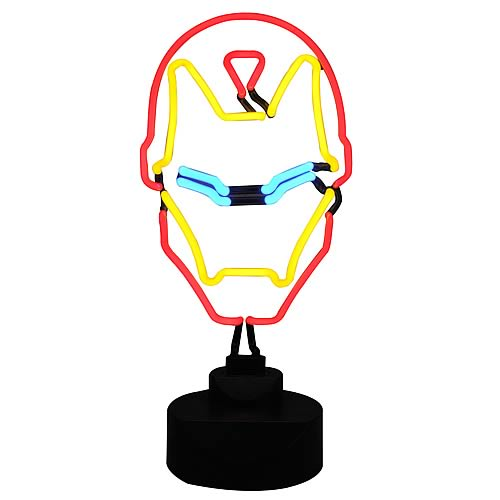 Iron Man Neon Sign with Comic