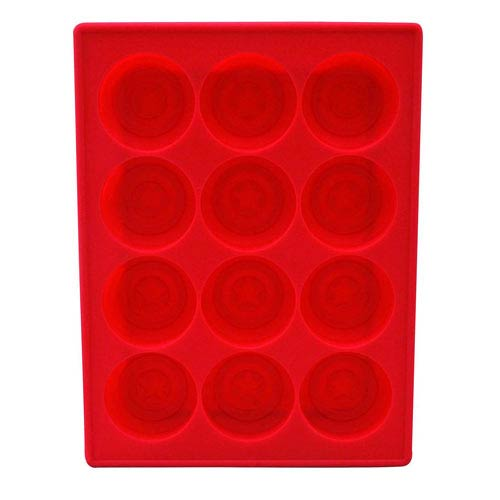 Captain America Shield Silicone Ice Cube Tray