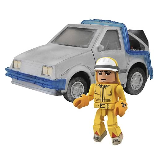 Back to the Future Minimates DeLorean Time Machine Vehicle