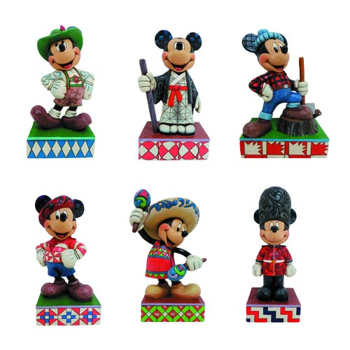 Disney Traditions Mickey Mouse Around the World Statues Set