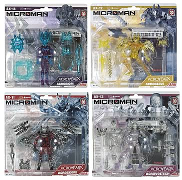 Microman Acroyear Force Action Figure Set
