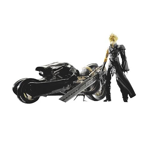 Final Fantasy Cloud Strife with Fenrir Motorcycle Set