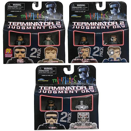 Terminator 2 Series 1 Minimate 2-Pack Case, Terminator, Mini-Figures, DIAMOND SELECT
