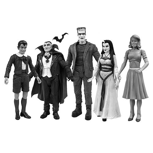 Munsters Black-and-White Figure Set