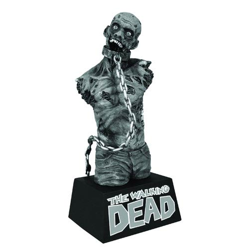 Walking Dead Michonne's Pet Zombie 2 Black & White Bust Bank