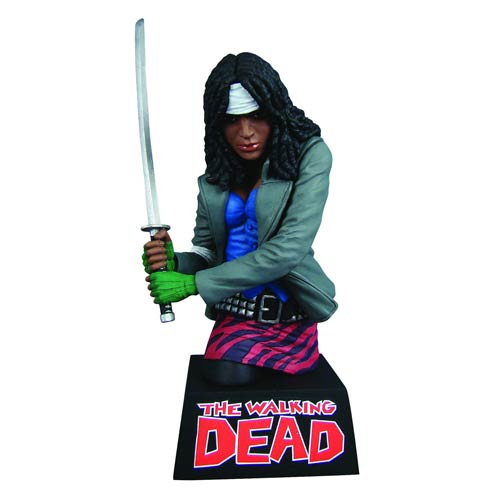 The Walking Dead Michonne Bust Bank
