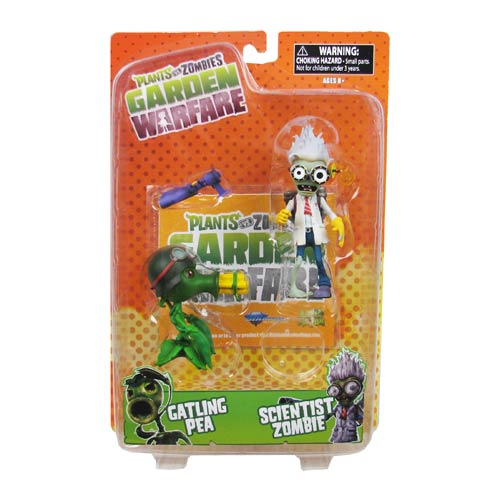 Plants vs. Zombies Garden Warfare Gatling Scientist Figure