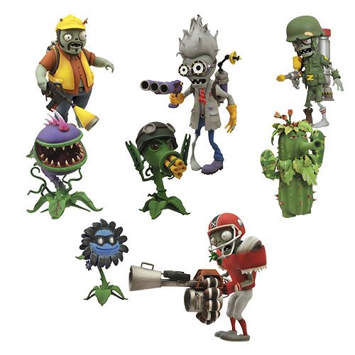 Plants vs. Zombies Garden Warfare Action Figure 2-Pack Set