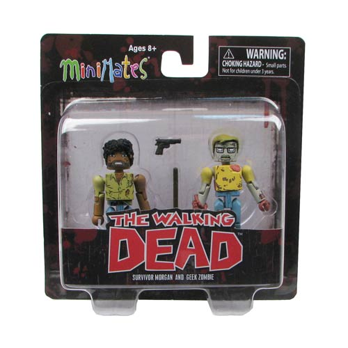 Walking Dead Minimates Ser. 5 Geek Zombie & Morgan Mini-Mate