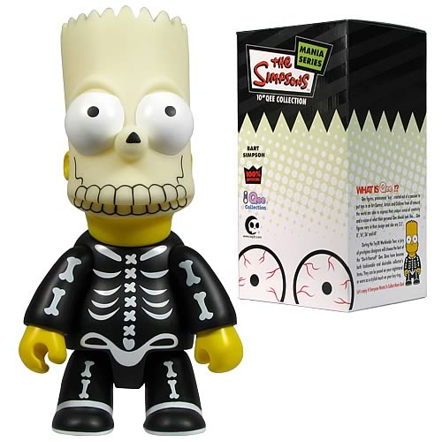 Simpsons Halloween Bart Bone Mask 2 10-Inch Qee Figure