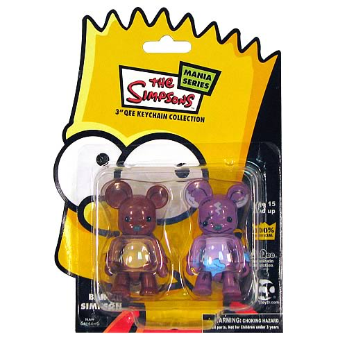Simpsons Bobo 2 1/2-Inch 2-Pack Qee Figures