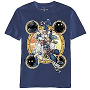Kingdom Hearts Stacked Against Navy T-Shirt