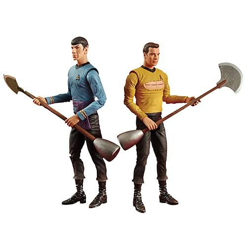 Star Trek Amok Time Kirk and Spock Action Figures