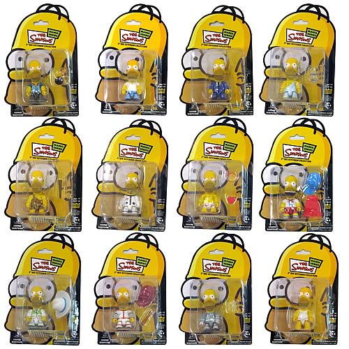 Simpsons Homer Simpson Mania Series 3-Inch Qee Figures