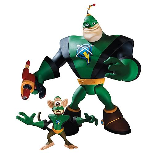 Ratchet and Clank Captain Qwark with Scrunch Action Figure