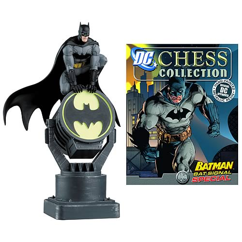 Batman Bat-Signal Chess Piece with Collector Magazine