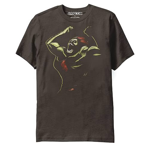 Street Fighter Blanka Brown T-Shirt