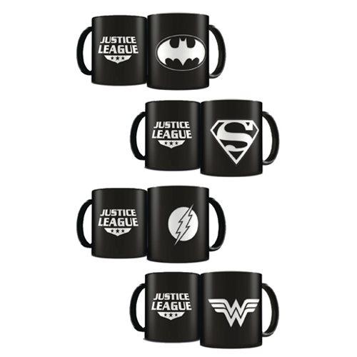 DC Heroes Laser Etched Mug Deluxe Black LE 4-Pack Set