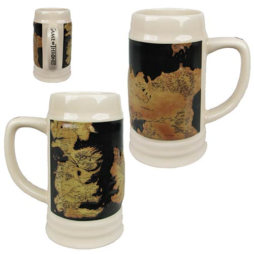 Game of Thrones Map Ceramic Stein
