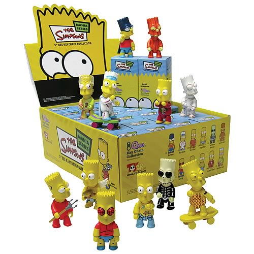 Simpsons Bart 3-Inch Qee Mania Series 1 Case