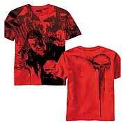 Punisher Double Fisted Red Aop T-Shirt