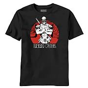 Deadpool Pool Shot Black T-Shirt