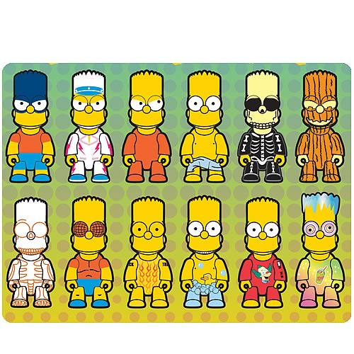 Simpsons Bart Simpson Mania Series 3-Inch Qee Figure Case