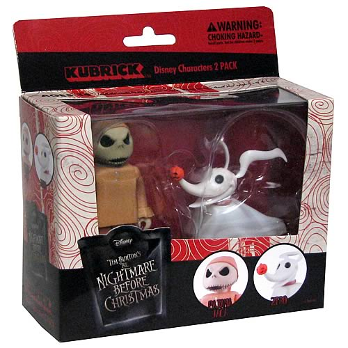 NBX Jack Skellington Pajama and Zero Kubricks 2-Pack