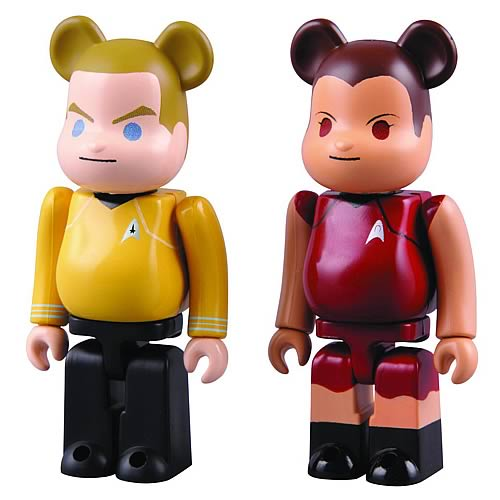Star Trek Captain Kirk and Uhura Bearbrick 2-Pack Figures
