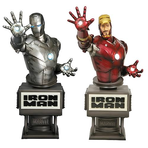 Iron Man Movie Fine Art Bust 2-Pack