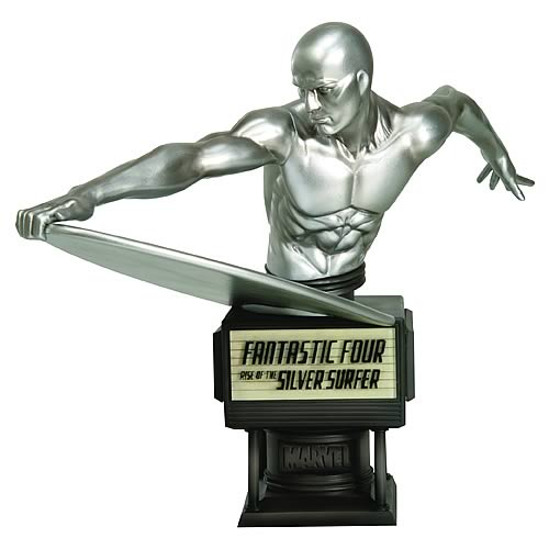 Marvel Fantastic Four Movie Silver Surfer Fine Art Bust | Gifts For A Geek and Toys